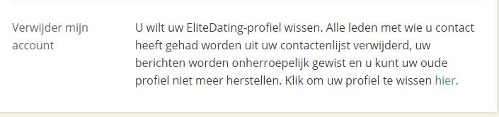 verwijder EliteDating