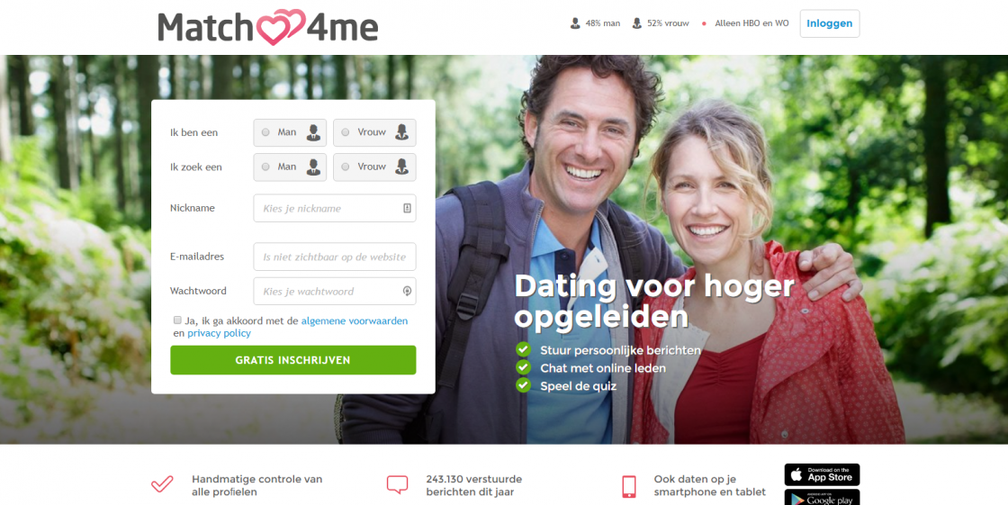 Datingsite hoger opgeleiden nederland